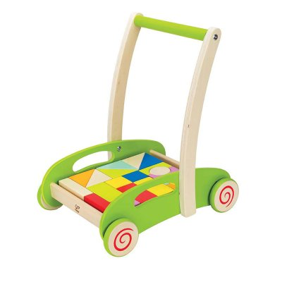 Baby walker with a puzzle