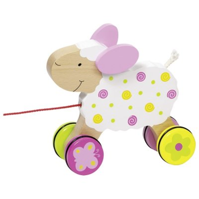 Pull-along animal, sheep Suse