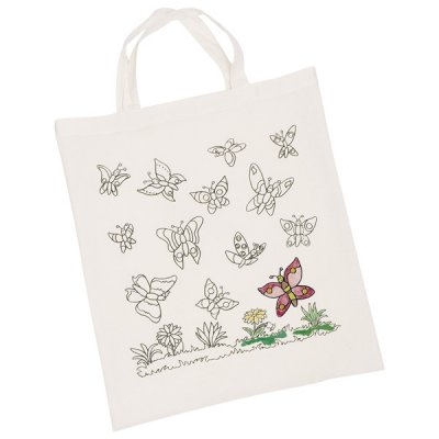 Cotton bag butterflies